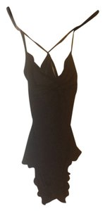 Vitamin A Black One-piece With Cutout/halter-style Bathing Suit