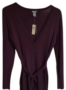 Ann Taylor Belted Purple Office Cardigan