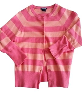 Gap Striped Coral Cardigan