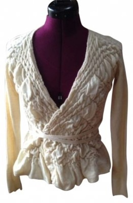 Preload https://item1.tradesy.com/images/anthropologie-whitecream-black-and-sweater-peplum-cardigan-size-4-s-159355-0-0.jpg?width=400&height=650