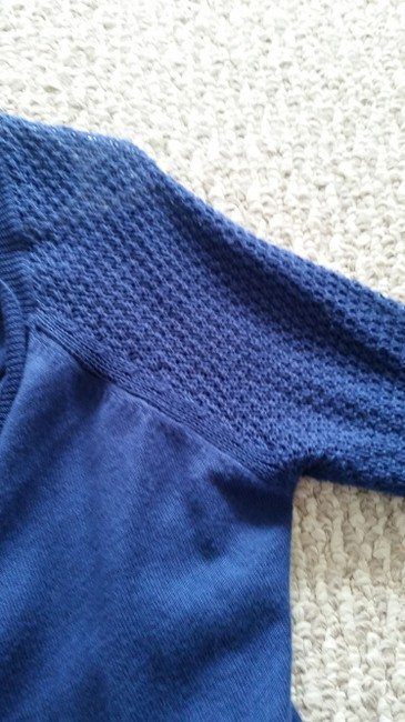 Old Navy Draped Cobalt Crochet Flutter Sweater