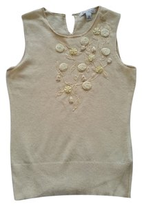 Banana Republic Beaded Rosette Vest Beading Sweater