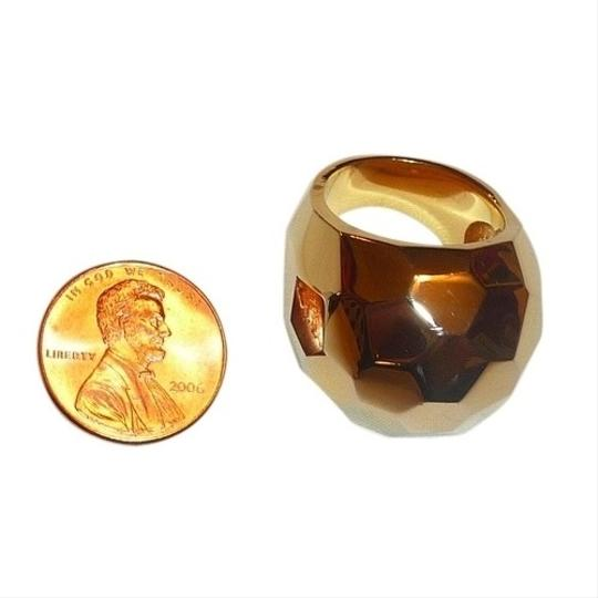 Alexis Bittar Alexis Bittar Gold-Tone Chunky Faceted Dome Ring