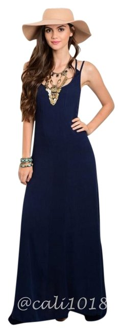 Preload https://img-static.tradesy.com/item/15937141/navy-blue-last-one-new-sexy-backless-long-casual-maxi-dress-size-4-s-0-1-650-650.jpg