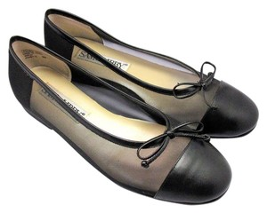 Sam & Libby Leather Mesh Ballet Black Flats