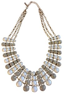 BaubleBar Baublebar Gold White Nonpareil Collar Statement Necklace