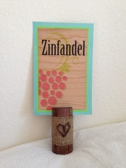 Brown with Burlap Accent Table Sign Holders W/ Grapevine Heart (16) Count Reception Decoration