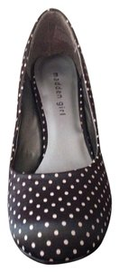 Madden Girl Black white polka dots with red heel Pumps