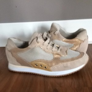 Geox Beige & Gold Athletic