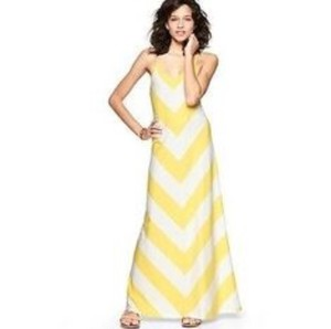 Yellow Maxi Dress by Gap Chevron Maxi Summer Stripes Maxi Long