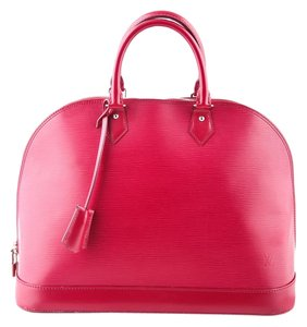 Louis Vuitton Leather Tote in Fuchsia