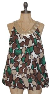 Anthropologie Sequin Bubble Boxy Top MULTI COLOR