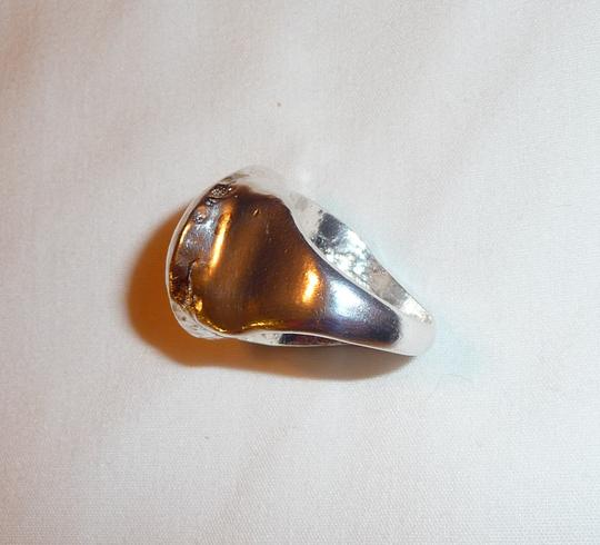 "Rachel Leigh RACHEL LEIGH New York ""Heart Attack"" Silver-Tone Hammered Dome Ring"