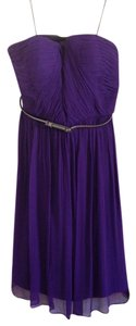 Donna Morgan Flattering Chiffon Belted Flowy Wedding Guest Summer Fall Comfortable Dress