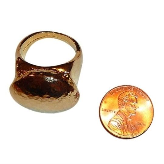 """Rachel Leigh RACHEL LEIGH New York """"Heart Attack"""" Gold-Tone Hammered Oval Dome Ring"""