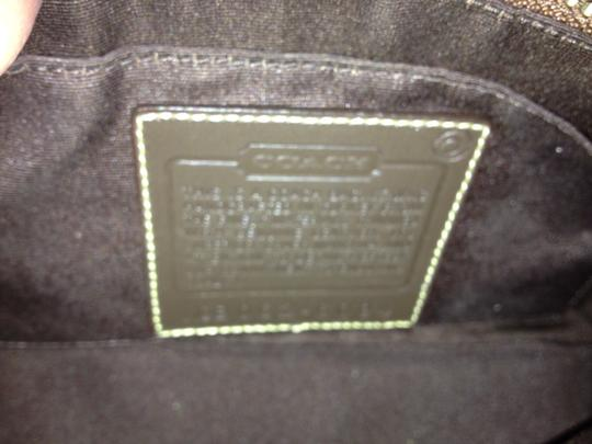 Coach Leather Pouch Purse Satchel in Brown