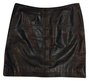 ASOS Leather Skirt Mini Skirt Black leather