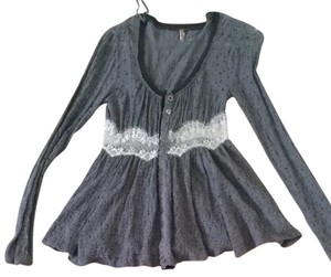 Free People Top Purple gray