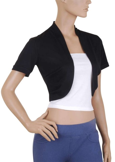 Preload https://item5.tradesy.com/images/black-white-short-sleeve-bolero-shrug-w-tube-night-out-top-size-16-xl-plus-0x-159389-0-0.jpg?width=400&height=650