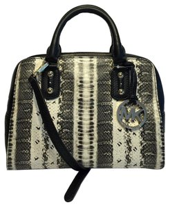 Michael Kors Small Satchel in Signature Snake