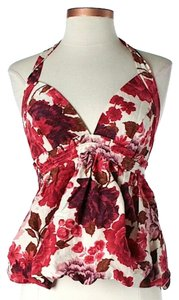 Tracy Reese Silk Floral Halter Top