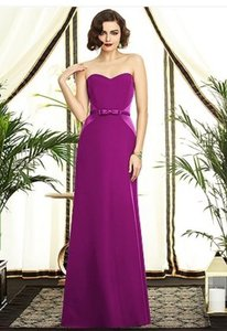 Dessy Persian Plum (Purple) Satin 2891 Formal Bridesmaid/Mob Dress Size 10 (M)