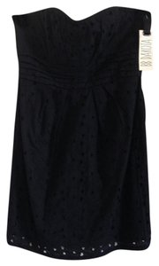 BB Dakota short dress Black Summer Eyelet Strapless Comfortable Fun on Tradesy