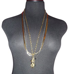 "Rachel Leigh RACHEL LEIGH New York ""Ciao"" Multi-Layer Chain Pendant Necklace"
