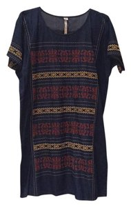 Uncle Frank short dress Denim with orange and yellow on Tradesy