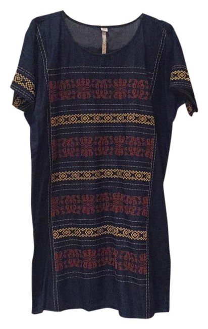 Preload https://img-static.tradesy.com/item/15940036/uncle-frank-denim-with-orange-and-yellow-relaxed-mid-length-short-casual-dress-size-8-m-0-1-650-650.jpg