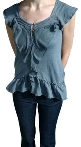 Anthropologie Top Bluegrey