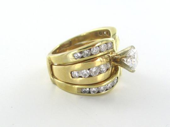 Gold 14kt Solid Yellow Ring 31 Diamonds 2.51 Carat Stunning 12.2 Gr Women's Wedding Band