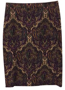 J.Crew Skirt Purple paisley