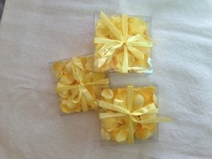 Allstate Floral & Craft Yellow Petals Poly-silk Reception Decoration