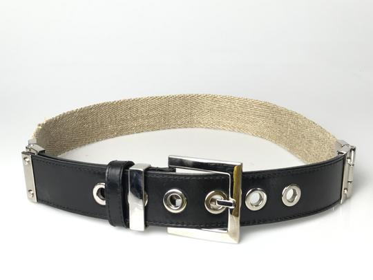 Dolce&Gabbana Canvas and Leather Belt