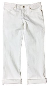 Tory Burch #croppeddenim Capris White