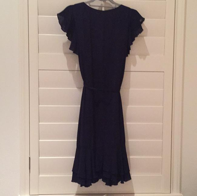 Neiman Marcus short dress Navy with multi on Tradesy