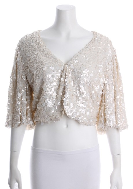 Adrienne Landau Sequin V-neck New With Tags Evening Cape