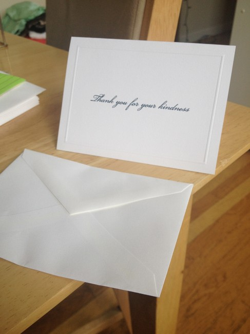 Item - Navy & White 150 Thank-you Cards