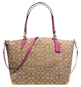 Coach Tote in Brown/ Pink