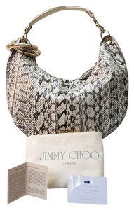 Jimmy Choo Interlocking Solar Embossed Leather Hobo Bag