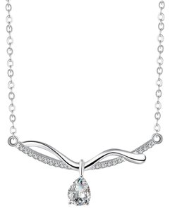 Freestyle Silver Plated Cubic Zirconia Necklace