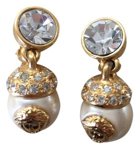 Versace Gianni Versace Mother of Pearl 18kt Gold Plated Earrings
