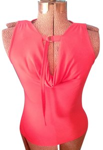 New York & Company Stretch Spandex Polyester Sleeveless Top Pink