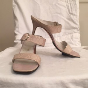 Salvatore Ferragamo Leather Formal Beige Sandals