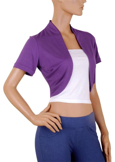 Preload https://item5.tradesy.com/images/purple-white-short-sleeve-bolero-shrug-w-tube-night-out-top-size-16-xl-plus-0x-159414-0-0.jpg?width=400&height=650