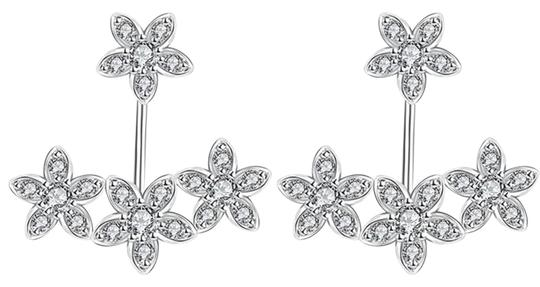Freestyle Rhodium Plated Cubic Zirconia Earrings