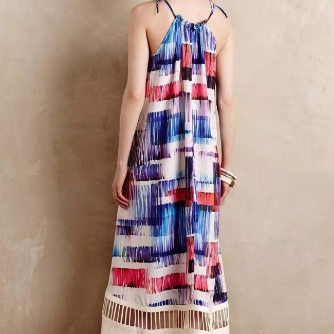 White blue pink purple Maxi Dress by Anthropologie