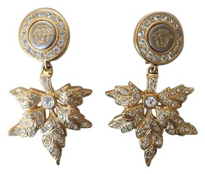 Versace Gianni Versace leaf 18kt Gold Plated Earrings