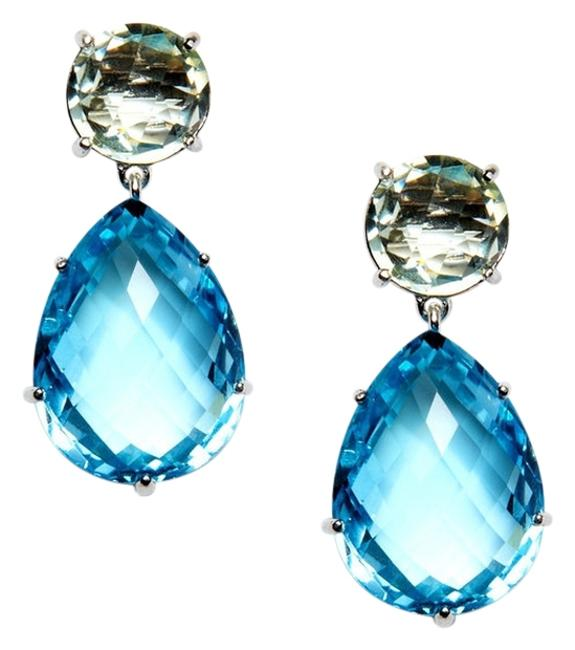 Item - Blue Topaz Angelina Green Amethyst And Earrings